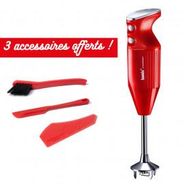 Coffret mixeur plongeant Mono + 3 accessoires offerts rouge