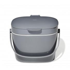 Bac à compost de cuisine gris 6,6 L Gris anthracite